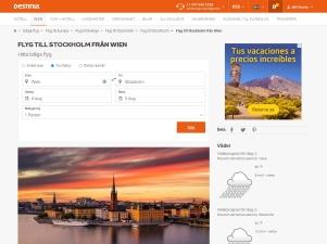 Billiga Flyg Wien - Stockholm - Destinia