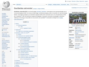 Stockholms Universitet – Wikipedia