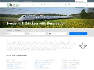 Sweden'S SJ E-Tickets With Reservation - ACP Rail