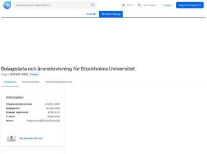 STOCKHOLMS UNIVERSITET - Företagsinformation