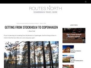 Stockholm To Copenhagen – Routes North