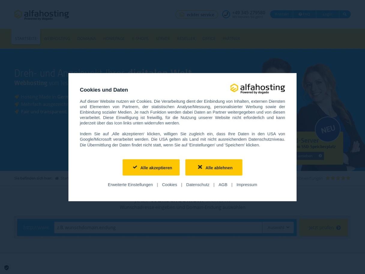 Günstige Hosting-Angebote - Alfahosting.de