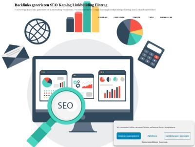 SEO Backlink Katalog Linkbuilding Eintrag kostenlos. Thumb
