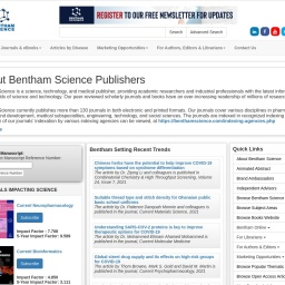 Bentham Science - International Publisher of Journals and Books