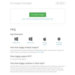 Bigjpg - AI Super-Resolution Image lossless enlarging / upscaling tool using Deep Convolutional Neural Networks