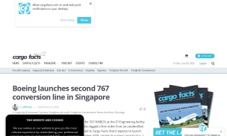Boeing launches second 767 conversion line in Singapore
