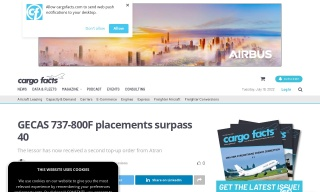GECAS 737-800F placements surpass 40