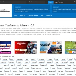 International Conference Alerts - ICA   Upcoming Conferences in 2021