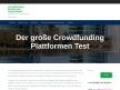 Crowdfunding Plattformen - Investiere in Immobilien, StartUps, Green Economy und Mittelstand Thumb