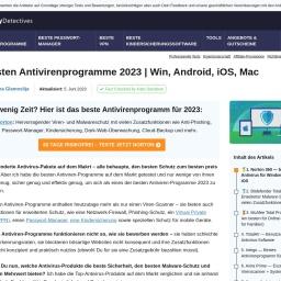 10 besten Antivirenprogramme 2021 | Win, Android, iOS, Mac