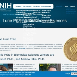 Lurie Prize in Biomedical Sciences   The Foundation for the National Institutes of Health