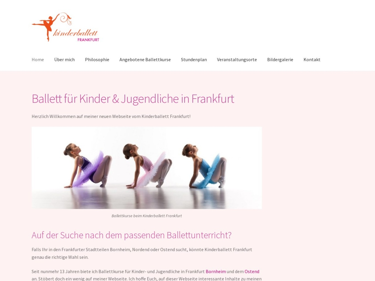 Kinderballett Frankfurt - Ballettschule für Kinder und Jugendliche