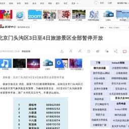 北京门头沟区3日至4日旅游景区全部暂停开放_新浪新闻