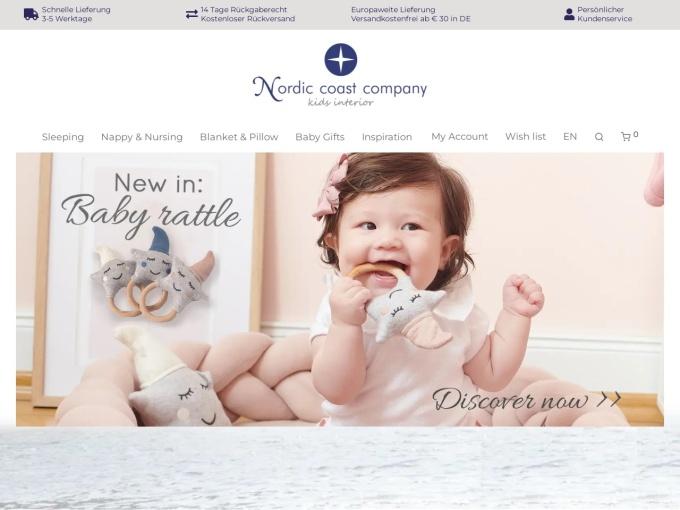 Screenshot des Onlineshops von nordic coast company