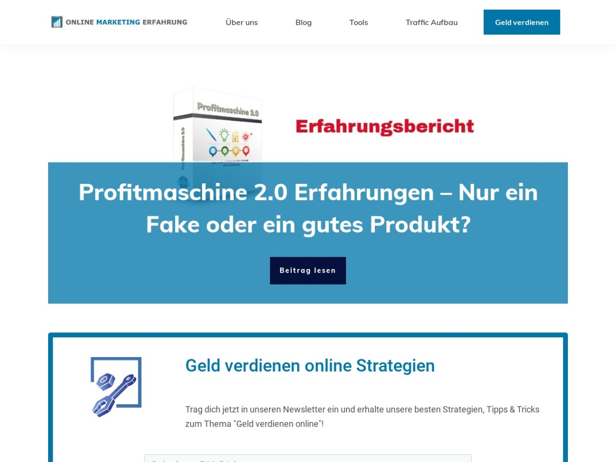 Online Marketing Erfahrung Blog