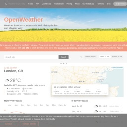 Сurrent weather and forecast - OpenWeatherMap
