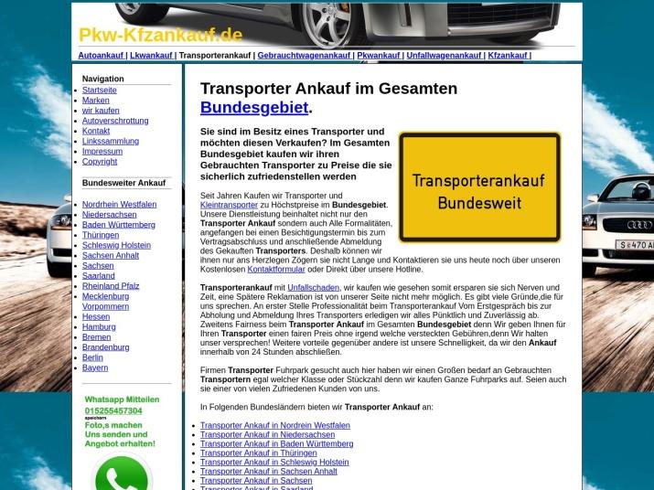 https://pkw-kfzankauf.de/transporterankauf.html