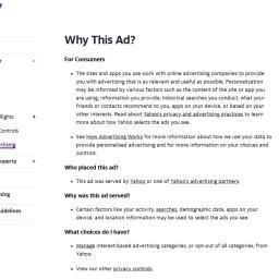 Why This Ad? | Verizon Media Policies
