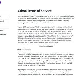 Verizon Media Terms of Service | Verizon Media Policies