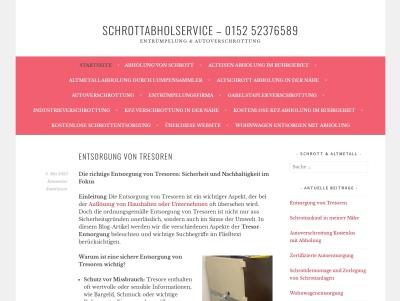 Schrottabholservice – 0152 52376589 – Entrümpelung & Autoverschrottung Thumb