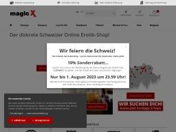 Magic-X Homepage Screenshot
