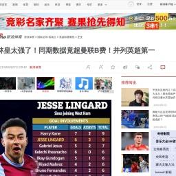 林皇太强了!同期数据竟超曼联B费!并列英超第一_国际足球_新浪竞技风暴_新浪网