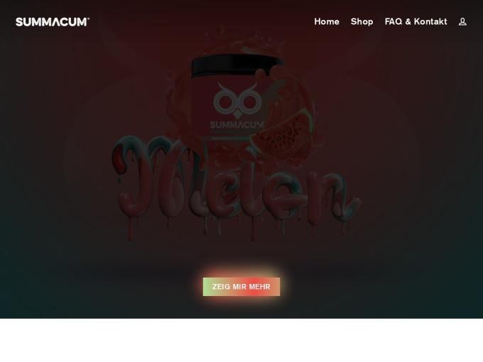 Screenshot des Onlineshops von SUMMACUM