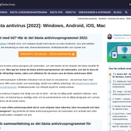10 bästa antivirus-programmen [2021]: Windows, Android, iOS, Mac