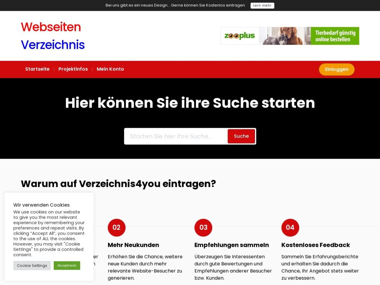 Webkatalog Verzeichnis4you.de