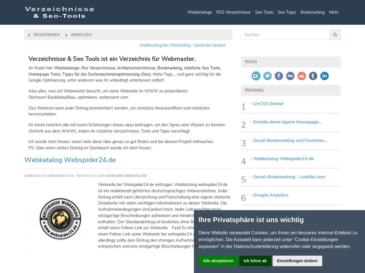 Verzeichnisse & Seo Tools