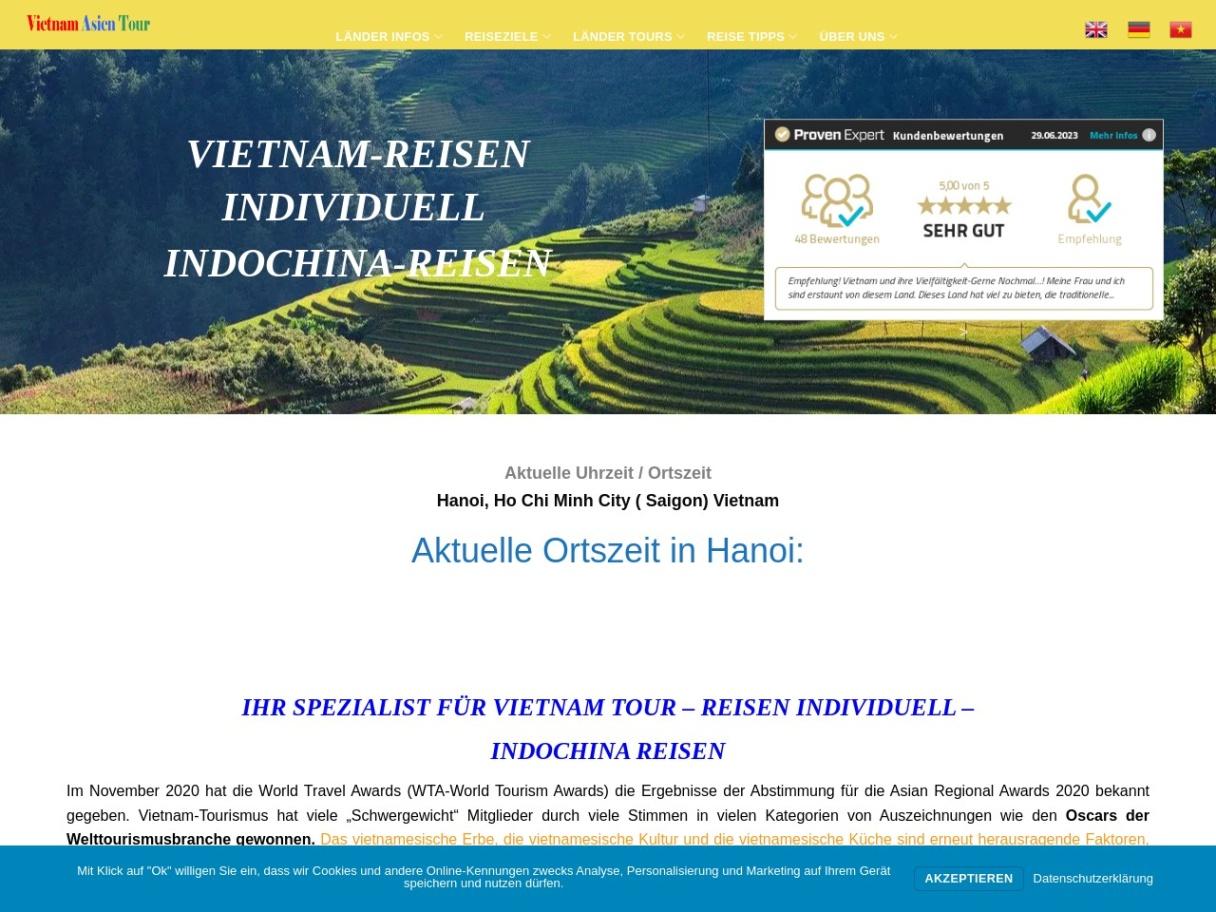 Maßgeschneiderte Vietnam, Kambodscha, Laos Rundereisen