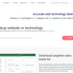 Website technology checker