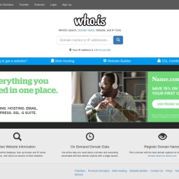 WHOIS Search, Domain Name, Website, and IP Tools - Who.is