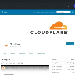 Cloudflare – WordPress plugin | WordPress.org