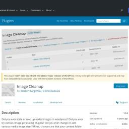 Image Cleanup – WordPress plugin | WordPress.org