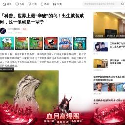"""「科普」世界上最""""辛酸""""的鸟!出生就装成树,这一装就是一辈子_【快资讯】"""