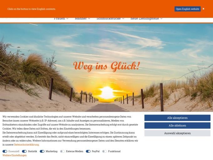 Screenshot des Onlineshops von Adenauer & Co