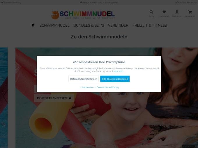 Screenshot des Onlineshops von Artikel-Fuchs