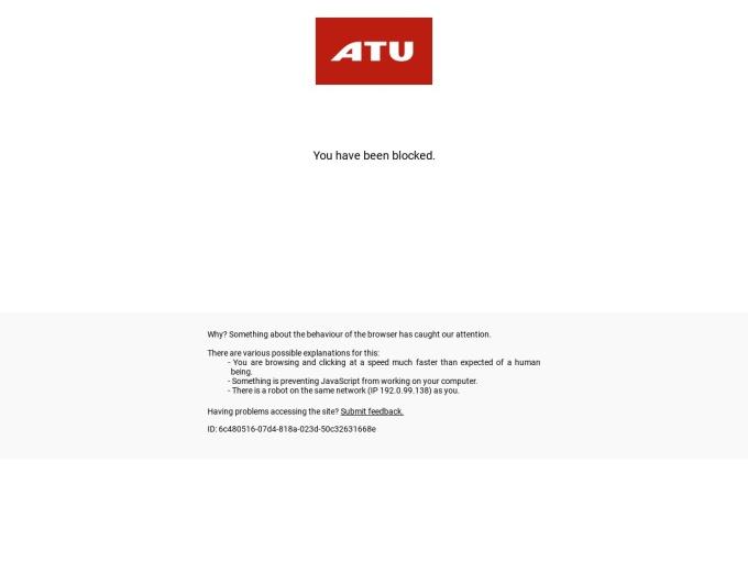 Screenshot des Onlineshops von ATU