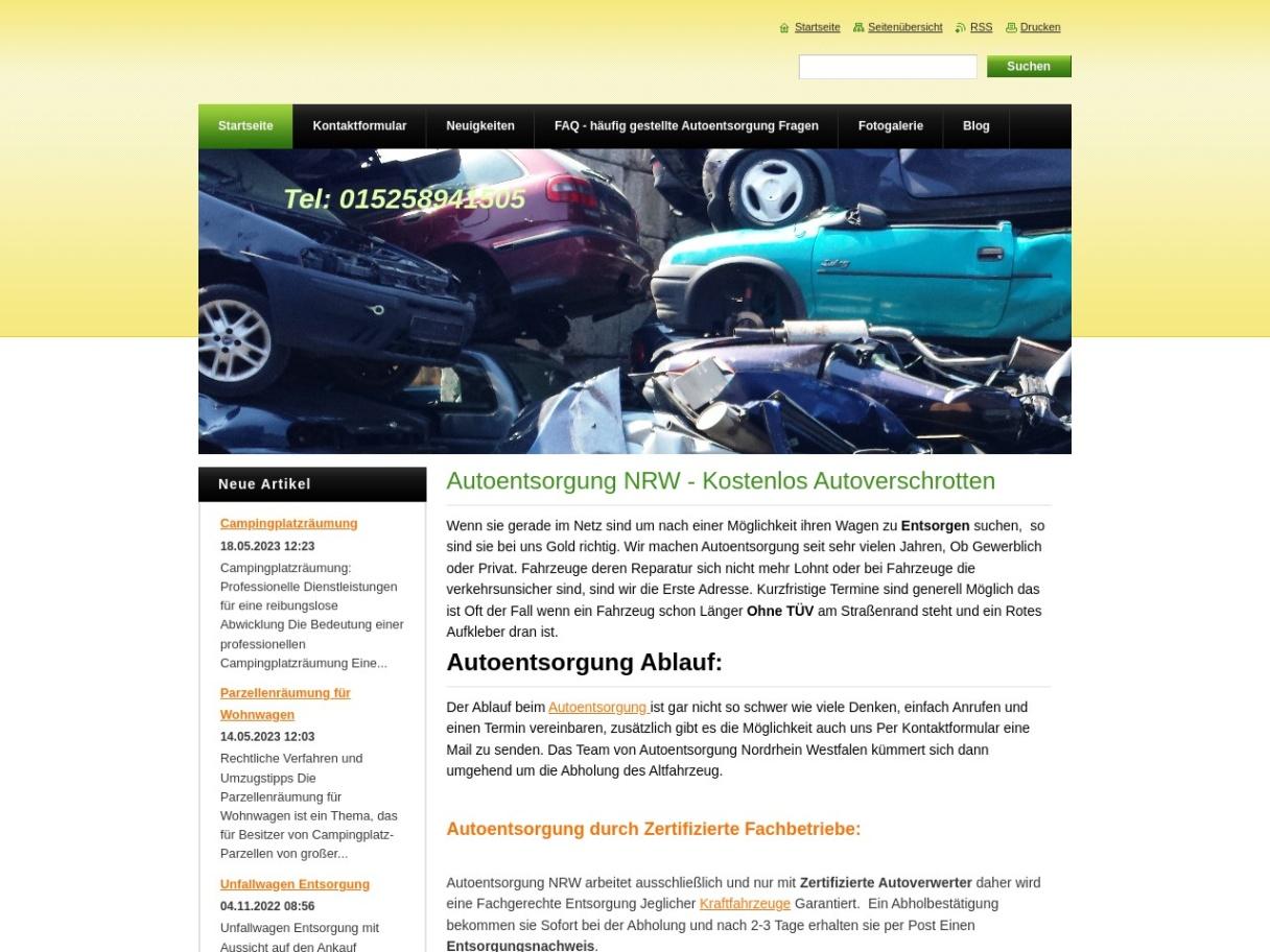 Motorrad Gabelstapler und Autoentsorgung