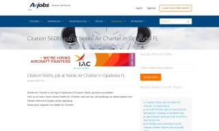Featured - Lead A P Technician job at Embraer in Ft Lauderdale Florida