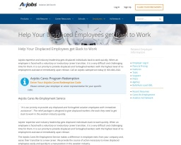 Outplacement Assistance Designed to Keep Displaced Employees Working in the Aviation Industry