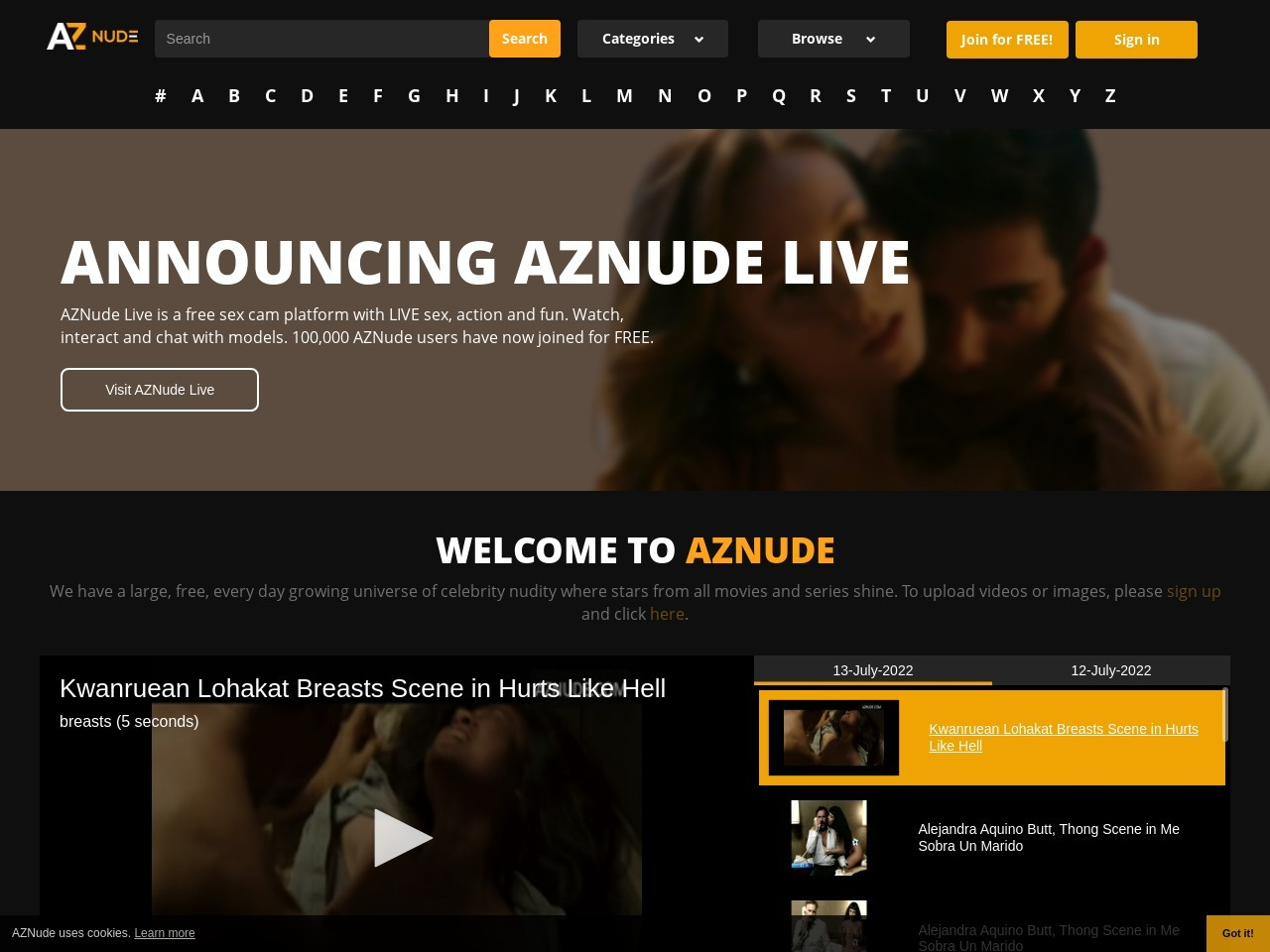 AZNude - Nude Celebrities from A to Z