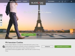 Blacksocks Homepage Screenshot