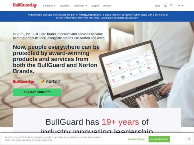 Screenshot des Onlineshops von BullGuard