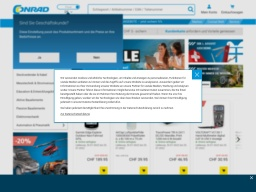 Conrad Homepage Screenshot