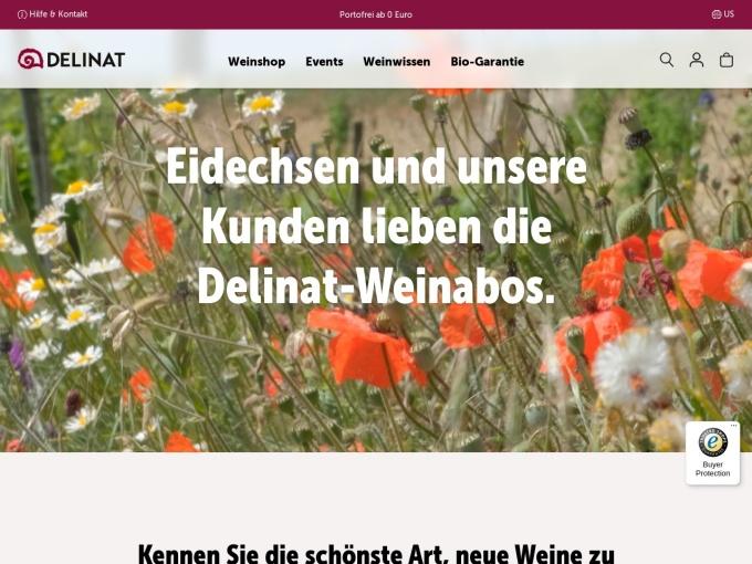 Screenshot des Onlineshops von DELINAT