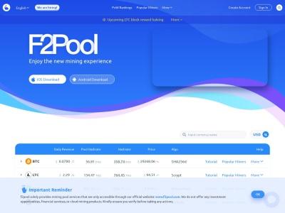 F2pool|鱼池数字货币挖矿平台