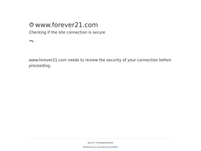 Screenshot des Onlineshops von Forever21