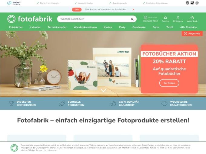 Screenshot des Onlineshops von fotofabrik